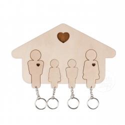 Wieszak na klucze - Rodzina 2+2