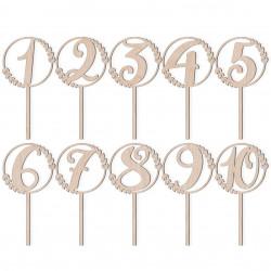 Zestaw numerków na stoły 1-10