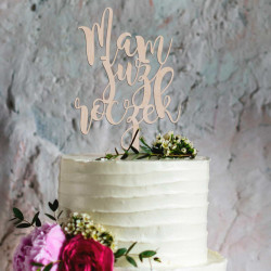 Topper na tort - Mam już roczek - Napis Dekoracja