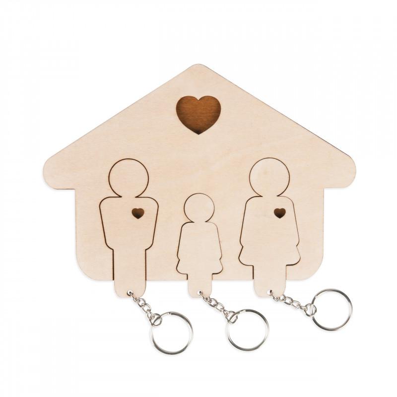Wieszak na klucze - Rodzina 2+ córka