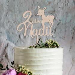 Topper na tort urodzinowy Sarenka Sarna imię wiek