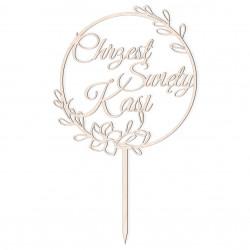 Topper - Chrzest Święty - wianek