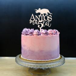 Topper na tort urodzinowy - Dinozaur Triceratops