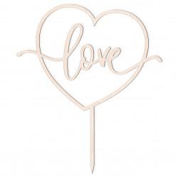 Topper z napisem Love v4