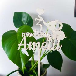 Topper na tort urodzinowy urodziny słonik słoń