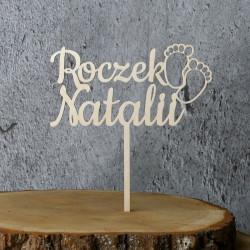 Topper na Roczek z dowolnym imieniem - Stópki