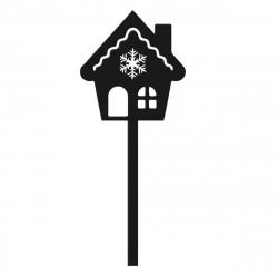 Domek z piernika - Mini topper do cake pops muffinki dekoracja ciast i tortów - Boże Narodzenie