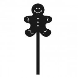 Ludzik z piernika - Mini topper do cake pops muffinki dekoracja ciast i tortów - Boże Narodzenie