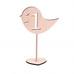 Numer na stół - ptaszek