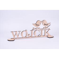 Napis na stół Pary Młodej - ptaszki