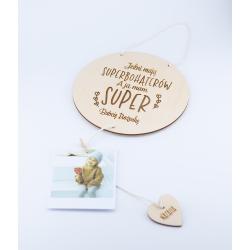 Tabliczka Superbohaterowie - dzień babci i dziadka - z miejscem na zdjęcie