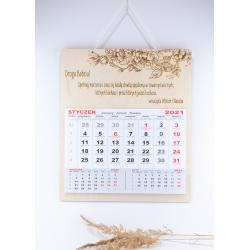 Kalendarz z dedykacją, życzeniami - dzień babci dziadka - róże