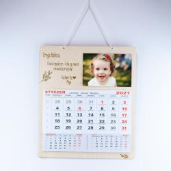 Kalendarz z dedykacją, życzeniami - miejscem na zdjęcie - dzień babci dziadka