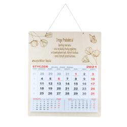 Kalendarz z dedykacją życzeniami - dzień babci dziadka - łąka maki polne kwiaty motyl