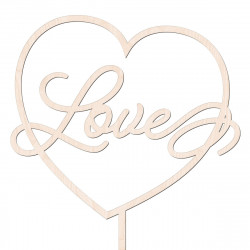 Topper Love w sercu v5 - walentynki