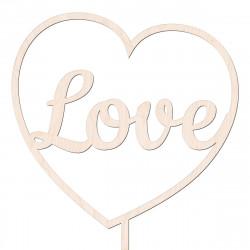 Topper Love w sercu v6 - walentynki