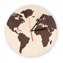 Zegar ścienny Świat