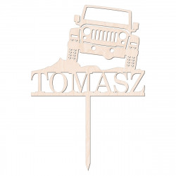 Topper terenówka off road - jeep - samochód terenowy - urodziny imieniny życzenia
