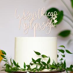 Topper Wszystkiego Najlepszego - urodziny życzenia gwiazdki