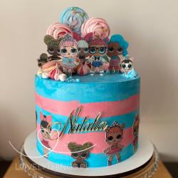 Dekoracja na bok tortu - Imię - dekor