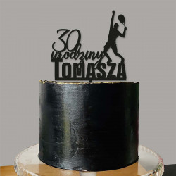 Topper urodzinowy Tenis Tenisista