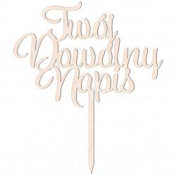 Topper dowolny napis - 3 słowa