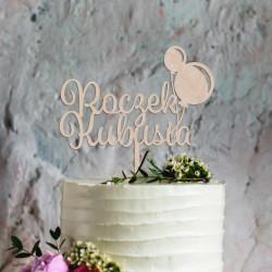 Topper na tort ROCZEK pierwsze urodziny - baloniki
